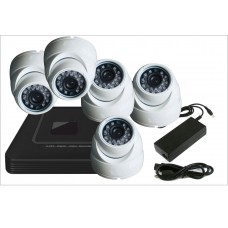 Комплект с пятью уличными IP камерами