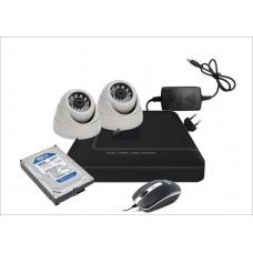 Готовый комплект из 2-х офисных видеокамер AHD