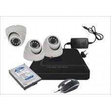 Готовый комплект из 3-х офисных видеокамер AHD