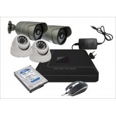 Готовый комплект из 4-х видеокамер AHD 1.Mp