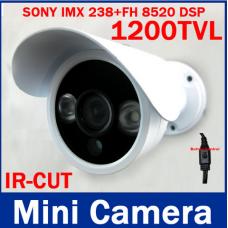 Видеокамера ccd SONY IMX238+FH  8520 DSP  1200TVL ИК  уличная булет,  IR-Cut