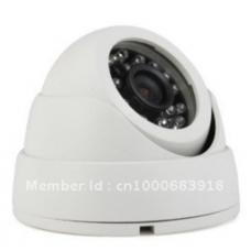Видеокамера офисная CCD 600 ТВЛ  3,6 мм купол белая