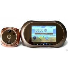 Видеоглазок Falcon Eye FE-VE02 Bronz дисплей функции звонок,запись видео и фото, детектор движения