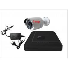 Комплект с одной уличной IP камерой 1.Mp