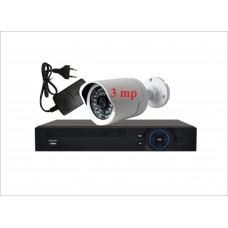 Комплект с одной уличной IP камерой 3.0mp
