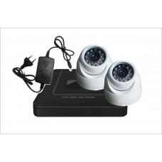 Комплект с двумя уличными  камерами