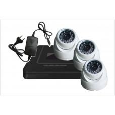 Комплект с тремя уличными IP камерами